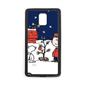 Charlie Brown And Snoopy Samsung Galaxy Note 4 Cell Phone Case Black DIY Ornaments xxy002-3660072