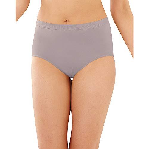 Bali Women's 3 Pack Comfort Revolution Brief Panty, Nude/Warm Steel/Pink Sands, 10/11