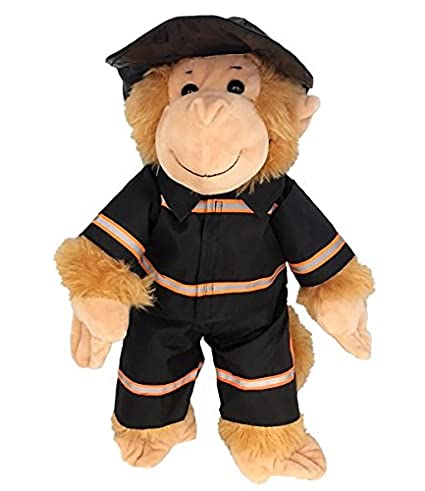 f7a94eb9ef7 Image Unavailable. Image not available for. Color  Black Firefighter w Hat Teddy  Bear ...