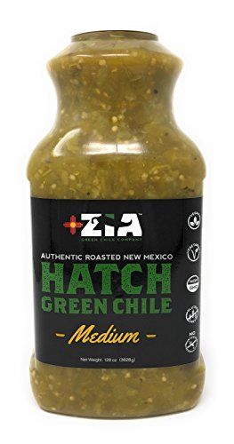 Original New Mexico Hatch Green Chile By Zia Green Chile Company - Delicious Flame-Roasted, Peeled & Diced Southwestern Certified Green Peppers For Salsas, Stews & More, Vegan & Gluten-Free - (Green Pepper Salsa)
