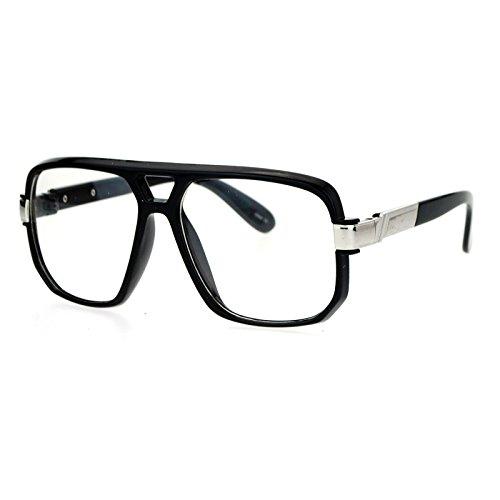 Unisex Clear Lens Glasses Oversized Fashion Square Frame Eyeglasses