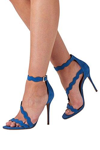 next Mujer Sandalias con ondulaciones Azul