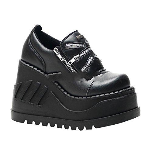industrial shoes Demonia 5 wedge platform Stomp punk 16 gothic 8 3 punk 6x6qw4nap8