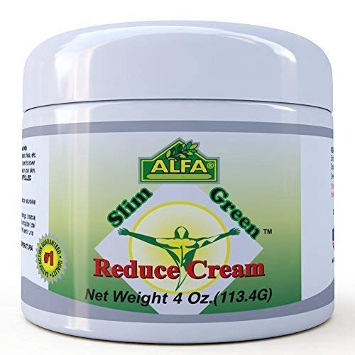 Premium Slim Green Reduce Cream by Alfa Vitamins - Weight Loss & Fat Burning Support for Men & Women - Does Not Stain Or Grease - Organic Natural Ingredients - Made in USA - 4 oz
