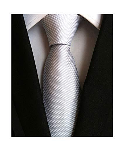 Necktie Silver Grey Necktie - 4