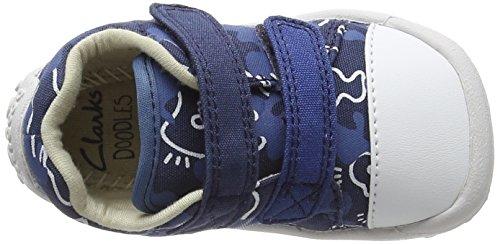 Clarks Baby Jungen Little Chap Krabbel-& Hausschuhe Blau (Navy Combi)