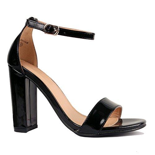 Image of Junie's Women's Chunky Block High Heel Pump Sandals