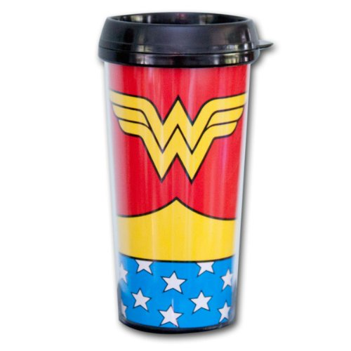 Wonder Woman Uniform 16oz Travel Mug with Lid