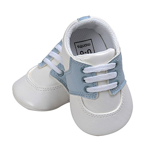 Pictures of Kuner Newborn Baby Boys Girls Pu Leather White+sky Blue 2