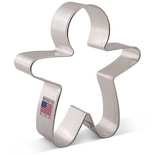 Large Gingerbread Man Cookie Cutter - Ann Clark - 4.5 Inches - US Tin Plated Steel