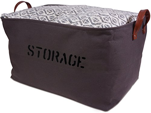 Canvas Storage Basket. Storage Bin is perfect for organizing the Nursery, Beauty Products, Office Supplies, Gift Baskets XX-Large