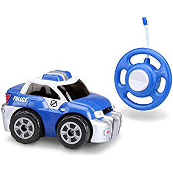 kid galaxy my first rc police car toddler remote control toy blue 27