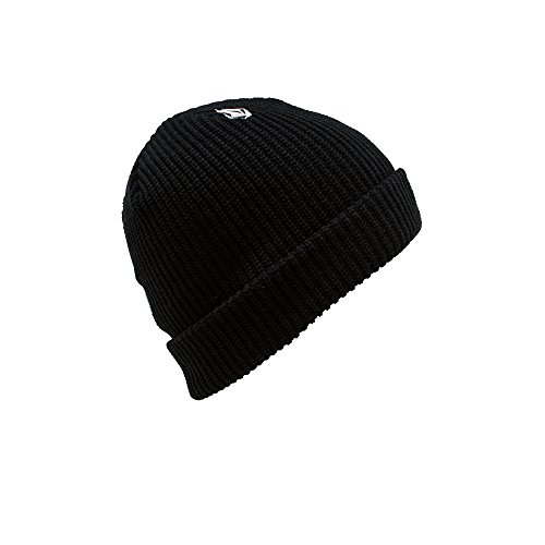 Volcom Beanie Winter (Volcom Boy's Full Stone Beanie, Black, One Size)