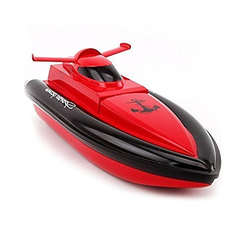 TOYEN Electric RC Boat Remote Control Boat for Kid- Red (The Motor and Paddle Only Works in Water.)