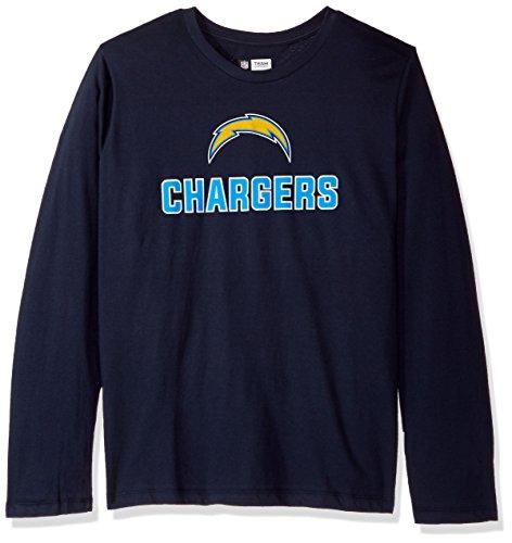 NFL San Diego Chargers Women L/S SCOOP NECK TEE, NAVY, 3X