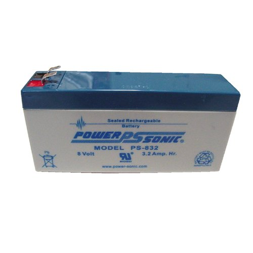(Power-Sonic 8V/3.2AH Sealed Lead Acid Battery w/ F1 Terminal)