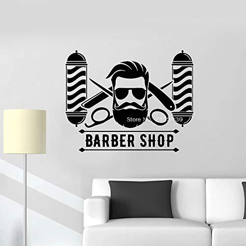 woyaofal 105 * 84CM Gentlemens Barber Shop Vinilo Tatuajes de ...