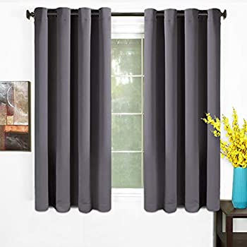 Exceptionnel TEKAMON 99% Blackout Curtains 2 Panels Thermal Insulated Solid Grommet  Draperies Set, Room Darkening Panels For Living Room, Bedroom, Nursery,  Home Theaters ...