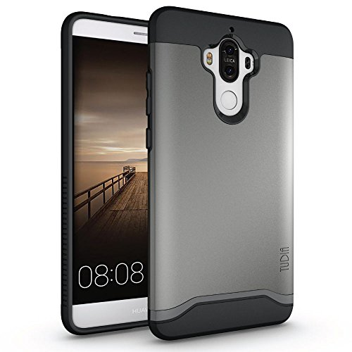 Mate 9 Case, TUDIA Slim-Fit Heavy Duty [Merge] Extreme Protection/Rugged but Slim Dual Layer Case for Huawei Mate 9 (Metallic Slate)