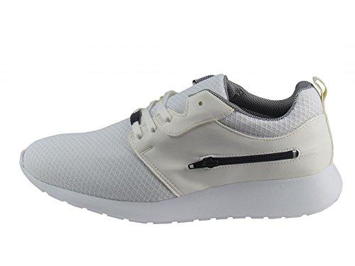 Sneaker - Brancos Imitação De Couro / Malha