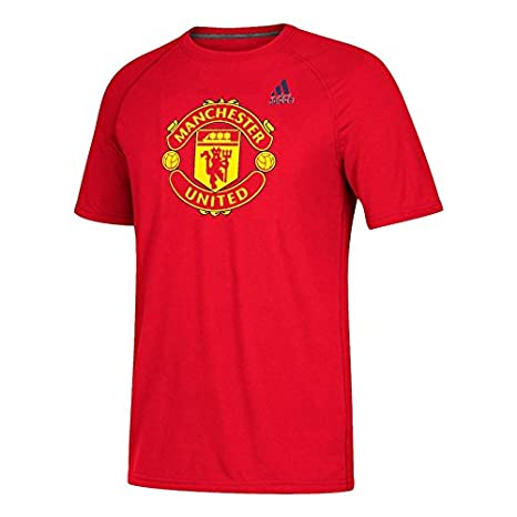 b8170a723de8 Amazon.com   adidas Manchester United Men s Red Tiled Climalite T ...