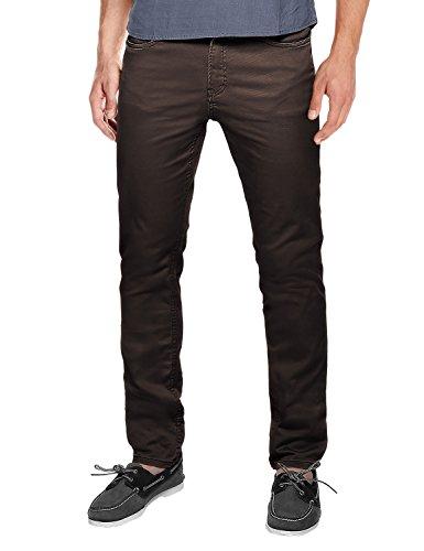 (Match Men's Slim Fit Straight Leg Casual Pants(34, 8032 Coffee))