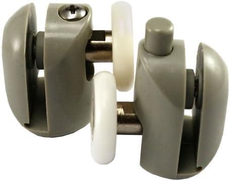 Micro Trader juego de 8 individual para mampara de ducha de soportes para cañas de pescar guías de ruedas 25 mm: Amazon.es: Hogar