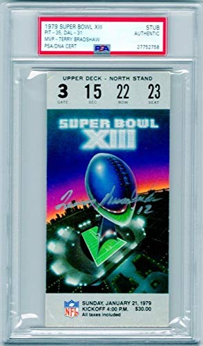 Terry Bradshaw Autographed Signed 1979 Super Bowl Xiii Ticket Stub Steelers MVP PSA/DNA Authentic