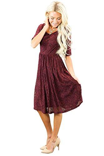 92d9f5cd1a743 Mikarose 'Emmy Modest Lace Dress, Modest Semi-Formal or Modest ...