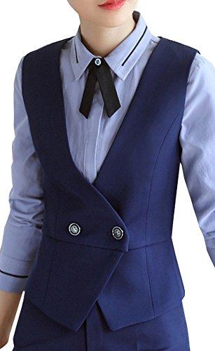 Vocni Women Slim Fit V-Neck Lined Business Economy Suit Vest Dressy Waistcoat by Vocni