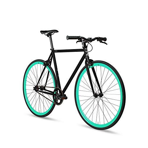 Fixed Gear Single Speed Urban Fixie Road Bike, Slate Elixir, 55cm/L