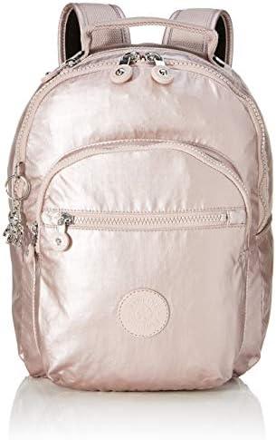 Kipling SEOUL S - Mochila escolar, 14 liters, Rosa (METALLIC ROSE ...