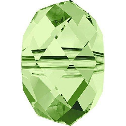 (5040 Swarovski Crystal Beads Briolette 8mm | Peridot | 8mm - Pack of 5 | Small & Wholesale Packs )