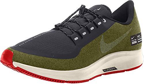 Nike Mens Air Zoom Pegasus 35 Shield Running Shoes (15 M US, Olive/Black/Silver)
