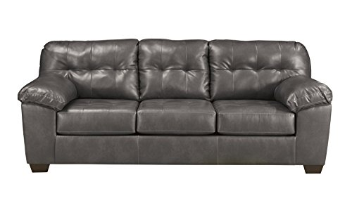 - Ashley Furniture Signature Design - Alliston Contemporary Upholstered Sofa - Gray