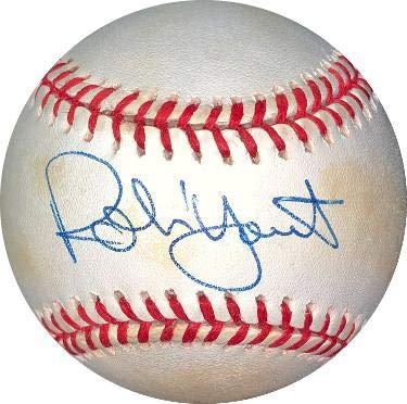 Robin Yount Autographed Baseball - ROAL Rawlings Official American League minor tone Hologram #DD64432) - JSA ()