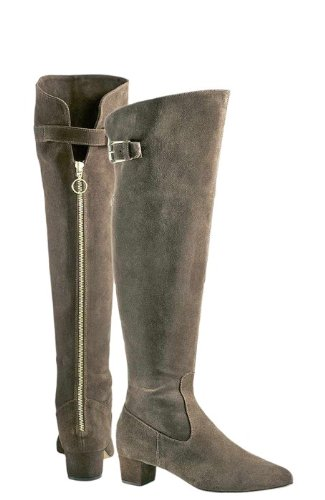 921dce9c40 Designer Over Knee High Thigh Boots taupe of DINI PaTRIZIA Women's Size 35:  Amazon.co.uk: Shoes & Bags