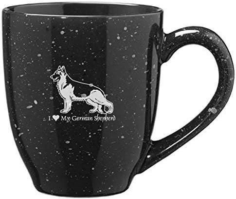 16-ounce Ceramic Coffee Mug I love my Dachshund-Black