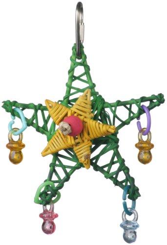 Super Bird Creations 4-1/2 by 3-Inch X-mas Star Bird Toy, Small