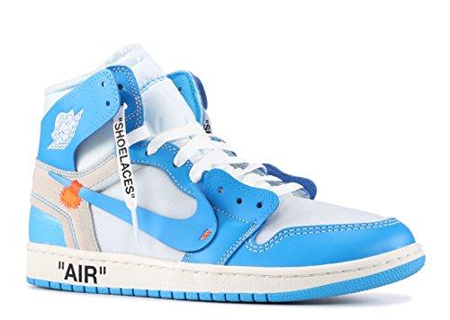 Jordan Air 1 x Off-White NRG (White/Dark Powder Blue-Cone,12.5)