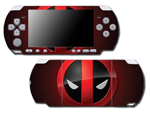 Deadpool Logo Face Special Edition Video Game Vinyl Decal Skin Sticker Cover for Sony PSP Playstation Portable Slim 3000 Series - Skins Cases Psp