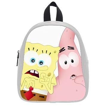 adb7beb99712 Fashion High-grade PU leather SpongeBob School Book Travel Bag Backpack  Daypack For Boys Girls