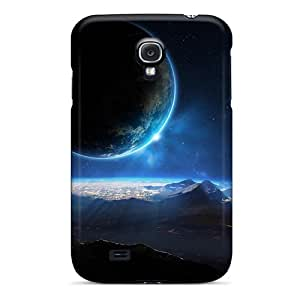 First-class Case Cover For Galaxy S4 Dual Protection Cover Distant Planet 3d