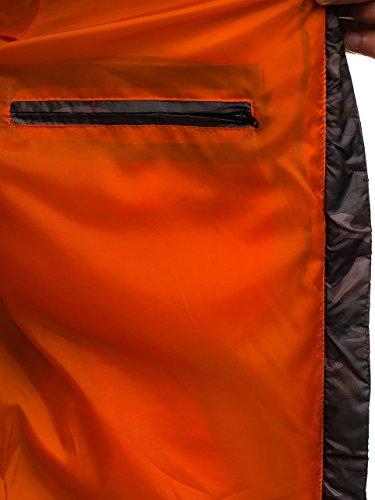 orange Maschile ak128 Di Finto Parka Inverno Bolf Pelliccia Di Rivestimento Verde Mix Pianura 4d4 Cappuccio Del vqgZ6BRcvf