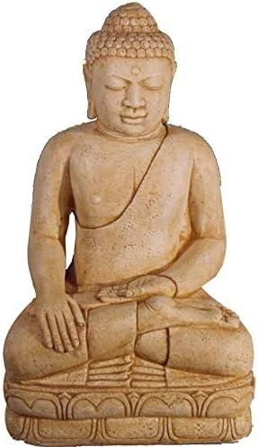 DEGARDEN AnaParra Figura Buda Grande Satisfacción para el jardín Decorativa 107cm. hormigón Siena: Amazon.es: Jardín