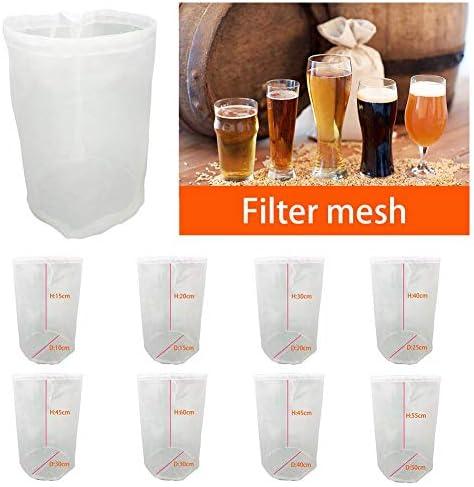 Filterbeutel Bierbrauen Wein Tee Obst Nuss Saft Milch Nylon Mesh Filterbeutel Net Filter Home Wiederverwendbar