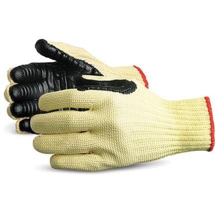 Anti-Vibration Gloves, L, Black/Yellow, PR