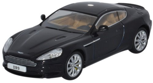 Aston Martin Db9 Coupe, Black, Rhd, 0, Model Car, Ready-made, Oxford 1:43