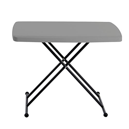 (Iceberg 65491 Indestructible Too 1200 Series Resin Personal Folding Table 30 x 20 Charcoal)