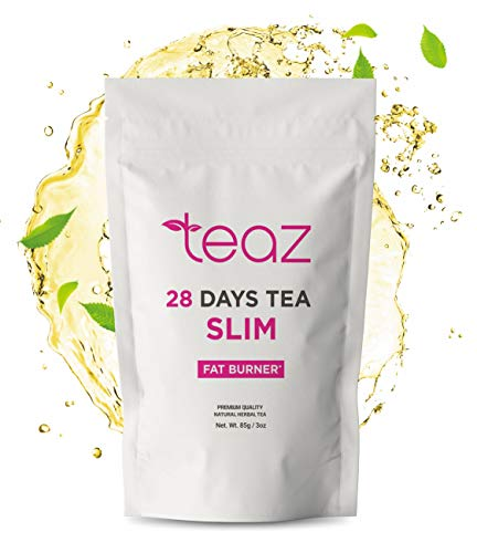 Teaz 28 Days Slim - Fat Burner Tea   For Women & Men   85g Loose Leaf   Slim Tea for Weight Loss   Detox Tea   Diet & Fat Loss Tea   Cleanse Tea   Natural Dietary Supplement   For More Successful Diet